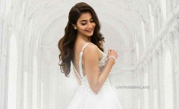 Pooja Hegde as a Prerana first look poster from Radhe Shyam