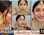 AMAZON JEWELLERY HAUL starts at Rs 180 for affordable bridal jewellery wedding guest