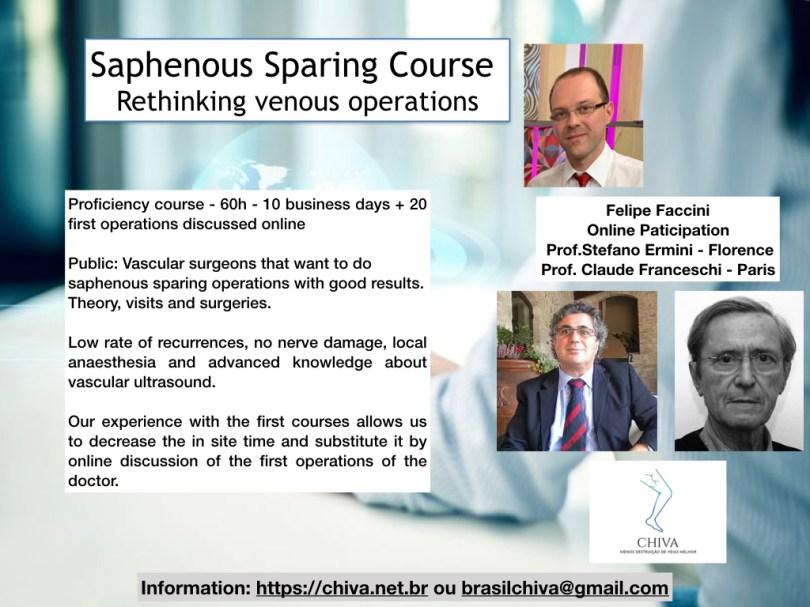 saphenous vein sparing course