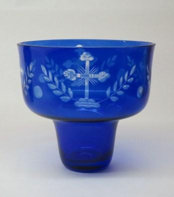 Pahar candela semicristal