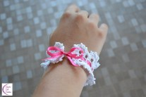 Lace and ribbon bracelet +°+ Bracelet dentelle et ruban
