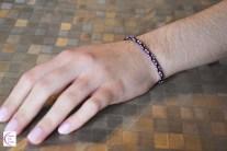 Kumihimo diamond bracelet +°+ Bracelet kumihimo à losanges