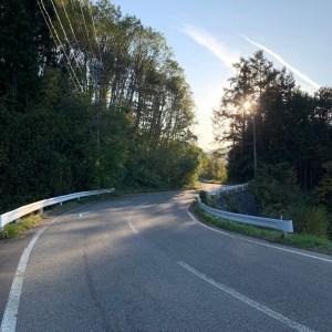 アルプス展望道路のフィナーレが近づいた2車線エリア