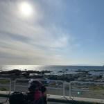 冬の房総半島の海とお日様とCBR650Rと。