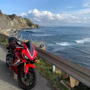 外房・勝浦の海沿いの断崖ロードwith CR650R