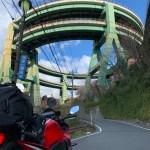 R414河津ループ橋を見上げる風景with CBR650R