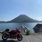 榛名湖畔より榛名富士を望むwith CBR650R