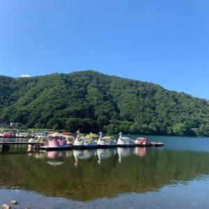 榛名公園を散策、榛名湖を眺める