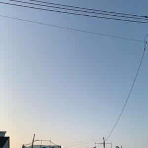 2021/4/3ツーリング出発前の埼玉自宅近くの青空