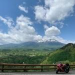 R361九蔵峠からの御嶽山の壮観な眺めwith CBR650R③