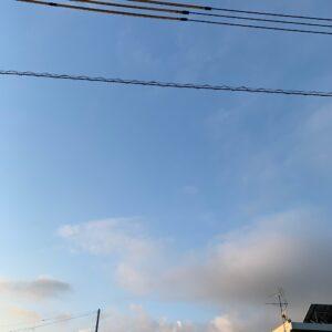 ツーリング出発前の埼玉自宅近く近くからの空の眺め