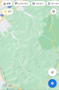 長野市と上田市の境界を行き来する2つのワインディングMap