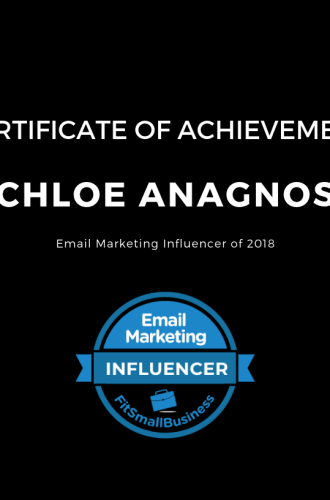Anagnos Recognized As A Top Email Marketing Influencer of 2018