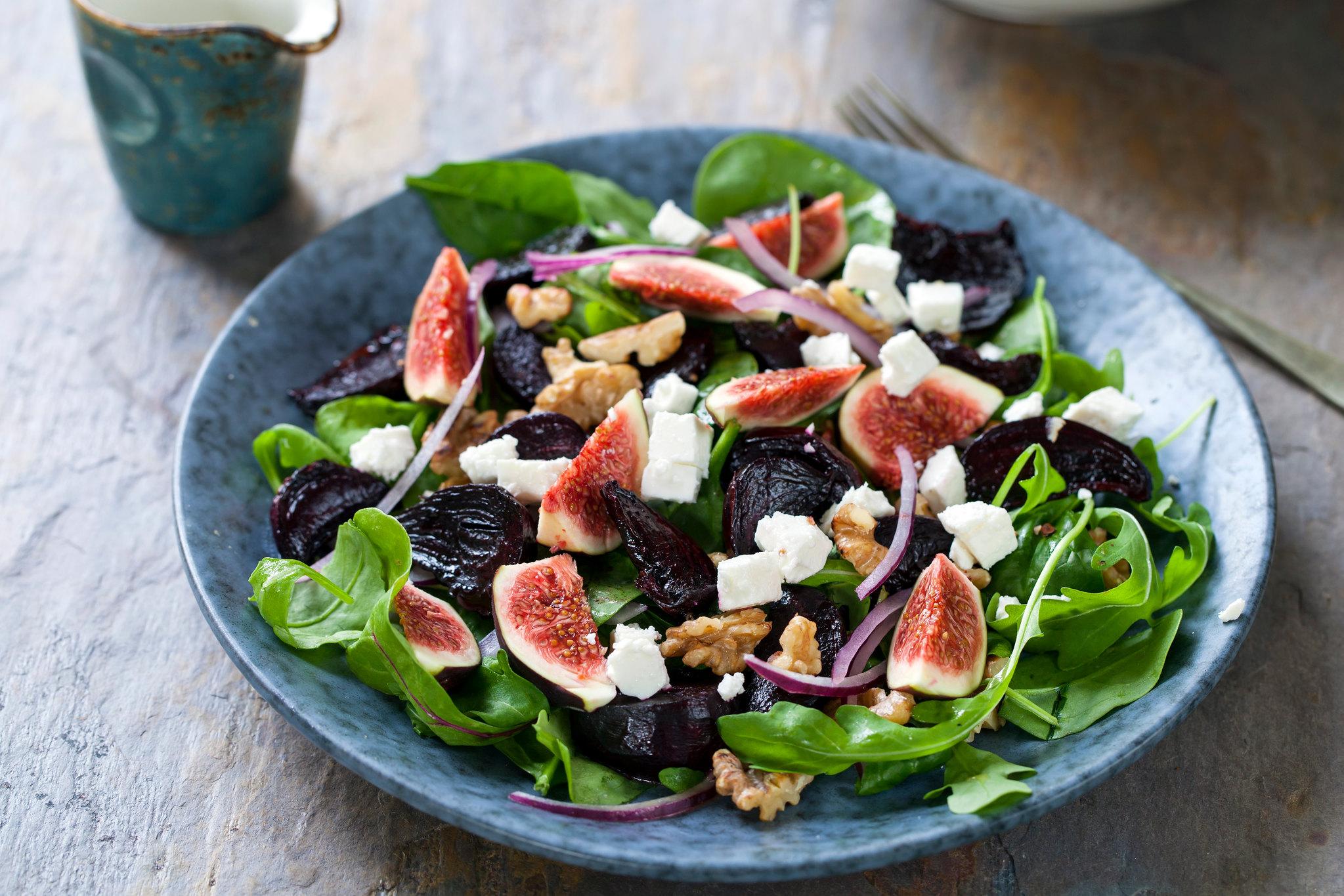 Roast Beetroot, Fig & Feta Salad