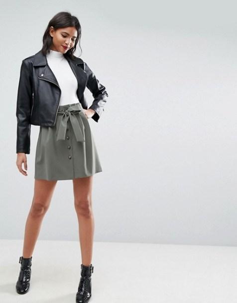 Grey Paperbag Skirt