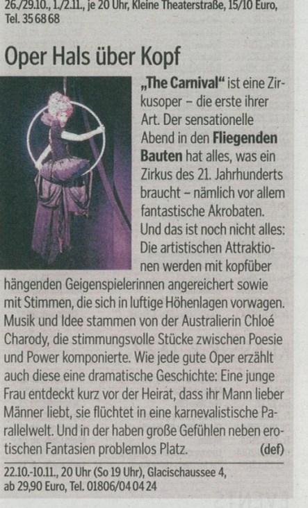 Hamburger Morgenpost review, Oct 2013