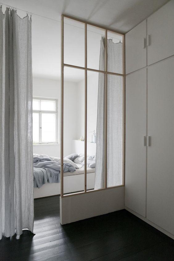 9 amazing bedroom divider closet ideas