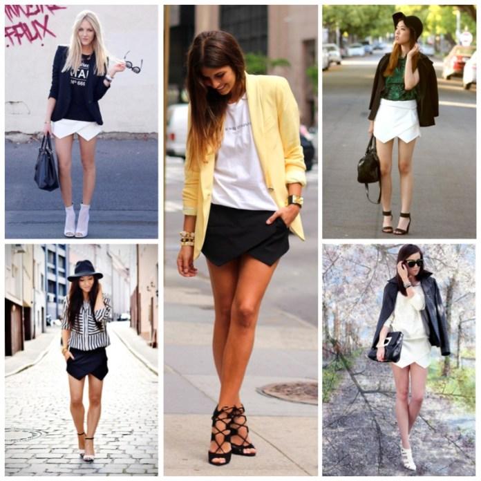 Zara Skort Collage