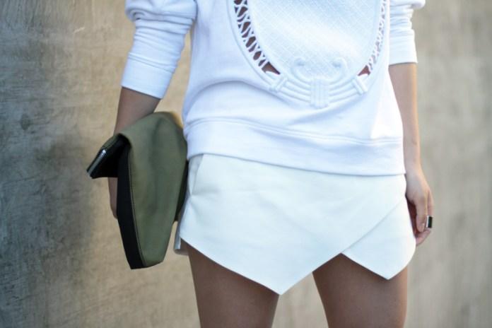 zara barpque sweatshirt white skort alexander wang kyla sandals_4