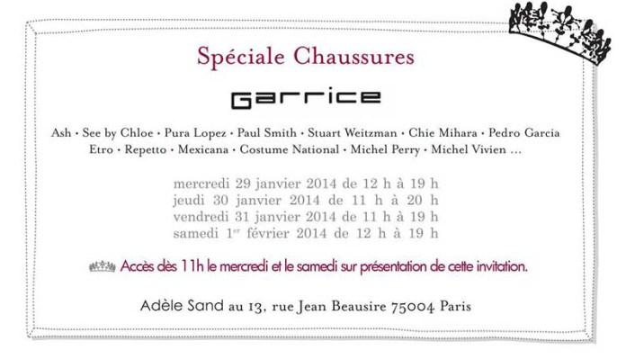 vente privée Garrice