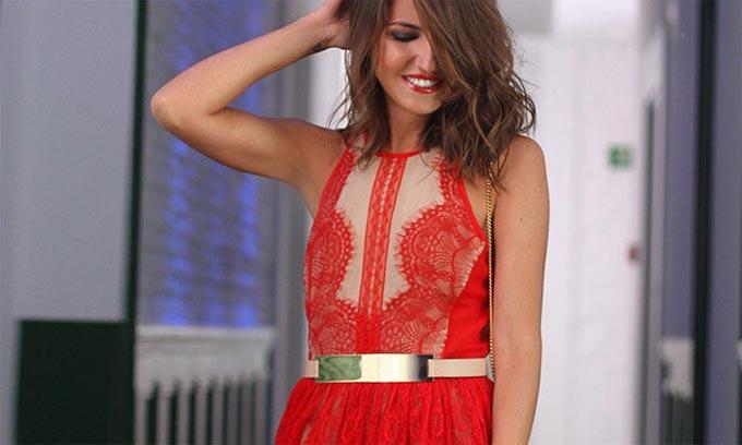 robe rouge styligion lovely pepa alexandra pereira