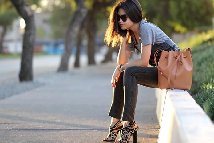 01-karen-walker-sunglasses-mansur-gavriel-bucket-bag-faux-leather-camisole-washed-jeans-giuseppe-zanotti-leopard-sandals-ootd