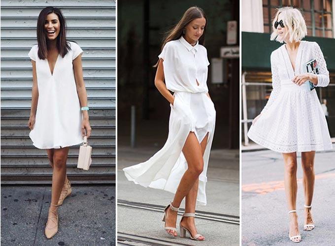 Les petites robes blanches portées par les blogueuses