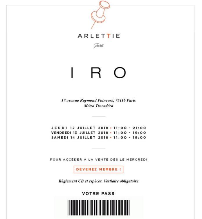 Vente privée Iro