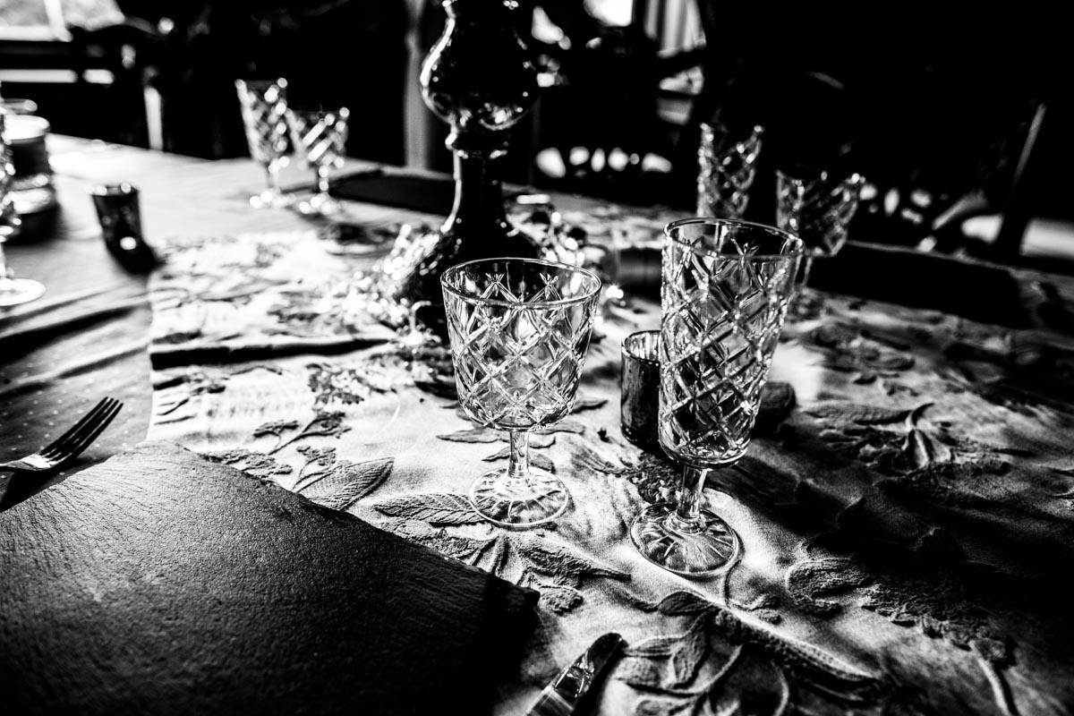 Wedding breakfast at Old Kilmun House.