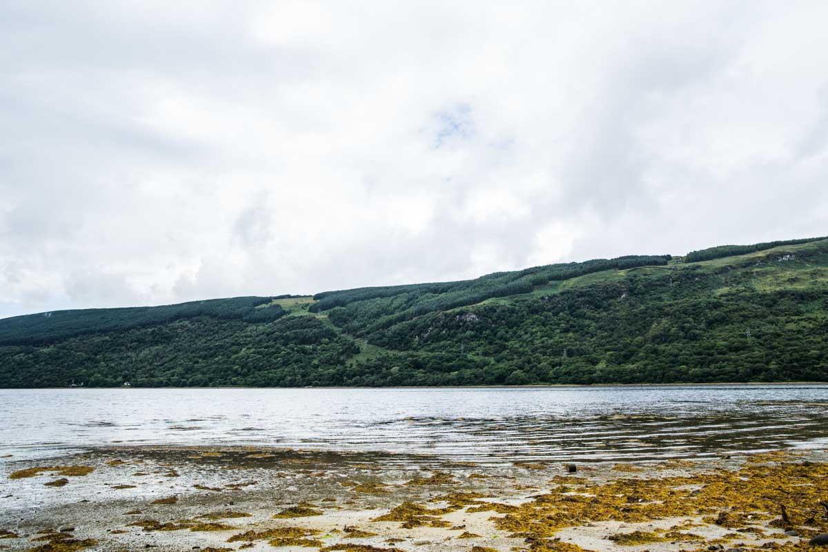 Ardkinglas wedding photographer. View of Loch Fyne from Ardkinglas House beach. Glasgow wedding photographer