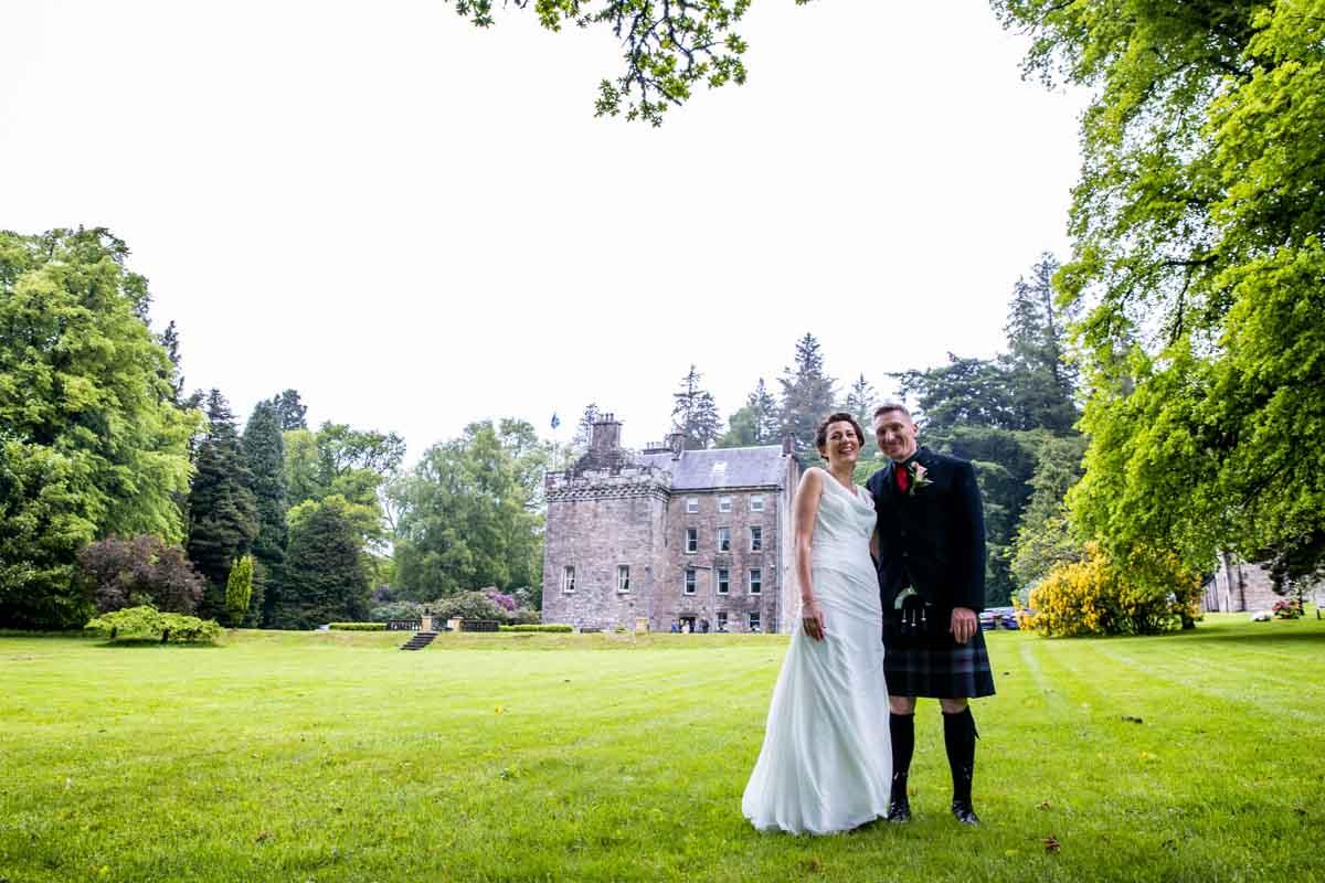 Wedding day at Culcreuch Castle wedding venue