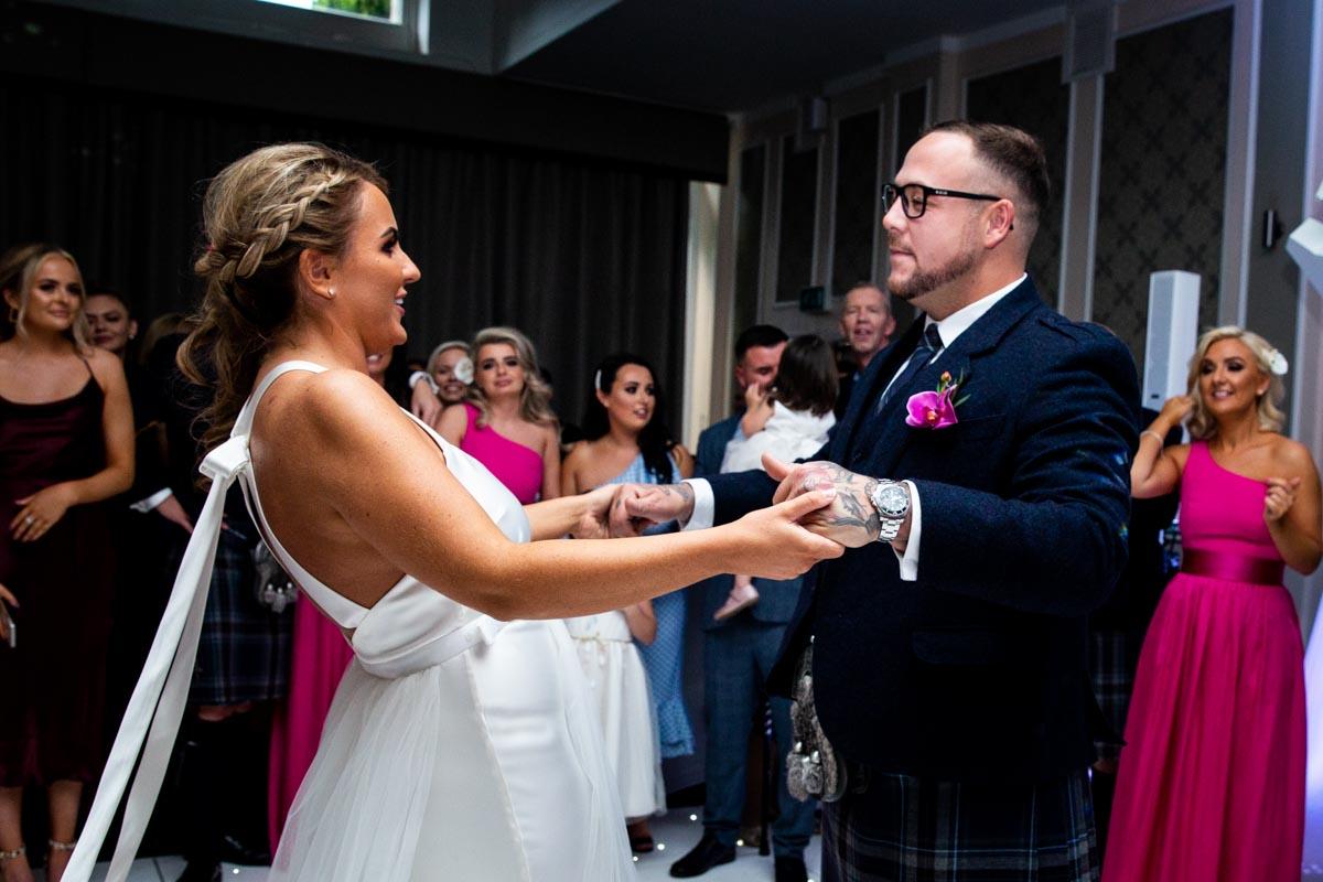 Wedding reception photography at The Dumbuck Hotel Dumbarton