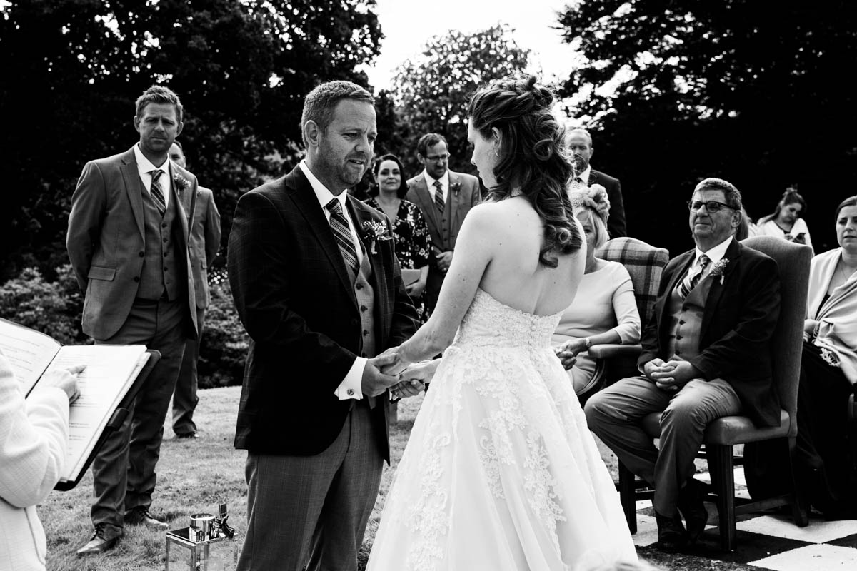 Outdoor wedding ceremony vows at Forest Hills Hotel & Spa