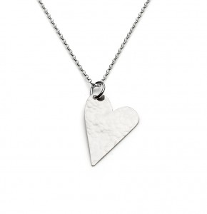 large silver heart necklace £40