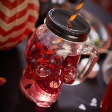 Wilko Skull Drinking Jar With Lid - £1 http://www.wilko.com/halloween-partyware/skull-drinking-jar-with-lid/invt/0441261