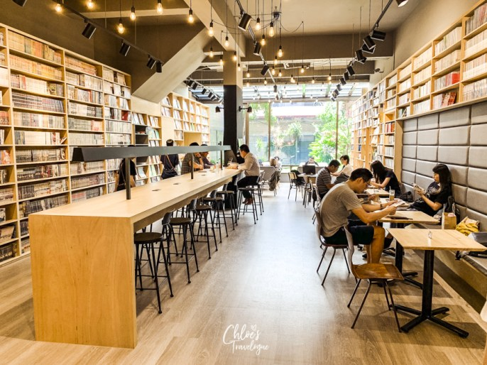Best Coffee in Kaohsiung, Taiwan | Booking - A unique book cafe featuring cartoons, books, magazine and brunch all in one place. | #Kaohsiung #Taiwan #Coffee #BookCafe