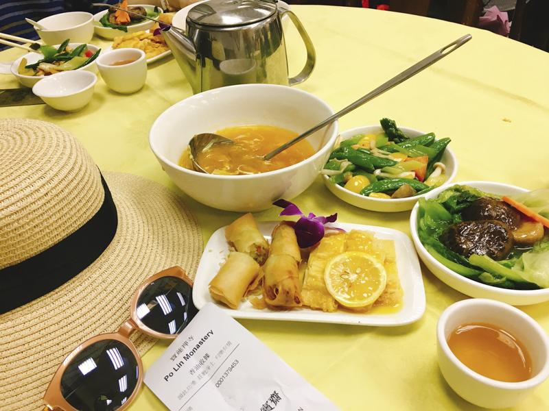 Hong Kong Lantau Island Tour | Try this vegetarian meal at Po Lin Monastery | #LantauIsland #HongKong #DiscoverHongKong #BigBuddha #TianTanBuddha #PoLinMonastery #wisdompath #cablecar #daytrip #BuddhistTemple #vegetarian