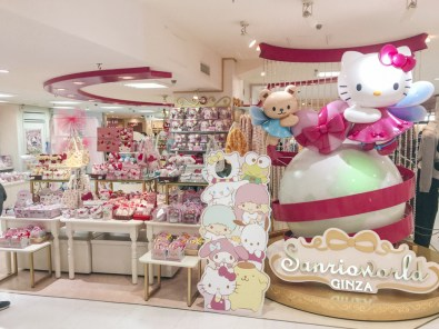 Ginza Shopping District | Sanrio World Ginza, world's largest Sanrio store | Where to find Hello Kitty in Tokyo | #Ginza #Tokyo #GinzaThingstoDo #Japan #GinzaShopping #SanrioWorld #SanrioCharacters #HelloKitty