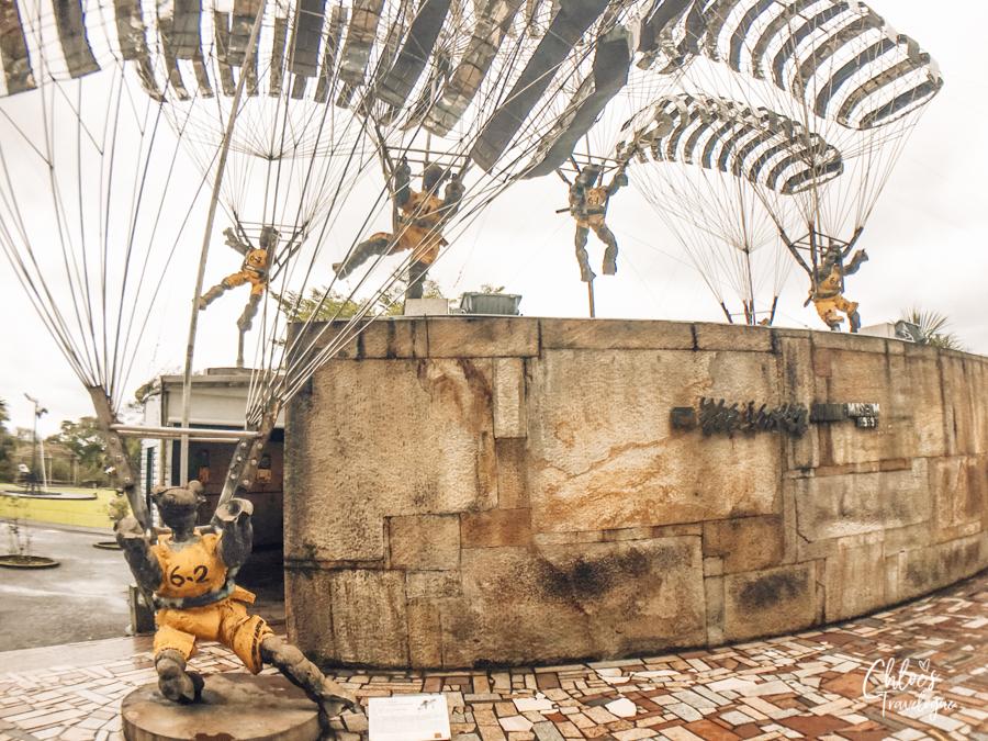 Day trip from Taipei - Juming Museum | Ju Ming Sculpture - Living World Series - Parachutes | #Taipei #TaipeiDayTrips #Juming #JumingMuseum #Taiwan #Sculpture