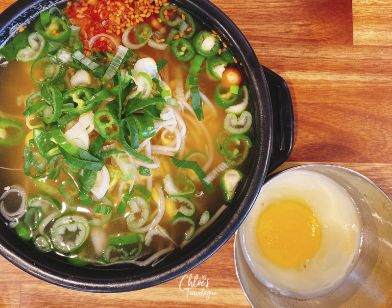 [What to Eat in Hongdae & Where] 5. Bean Sprout Rice Soup, one of the best hangover food | #Hongdae #Seoul #TravelKorea #AsiaTravel #KoreanFood #Hangoverfood