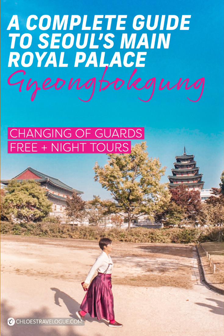 Gyeongbokgung Palace Guide: All you need to know about special programs you should not miss!   Changing of Guards, Free Guided Tours, Special Night Events + Gyeonghoeru Pavilion Viewings, etc.   #Gyeongbokgung #PalaceatNight #Gyeonghoeru #VisitSeoul #TravelKorea #AsiaTravel