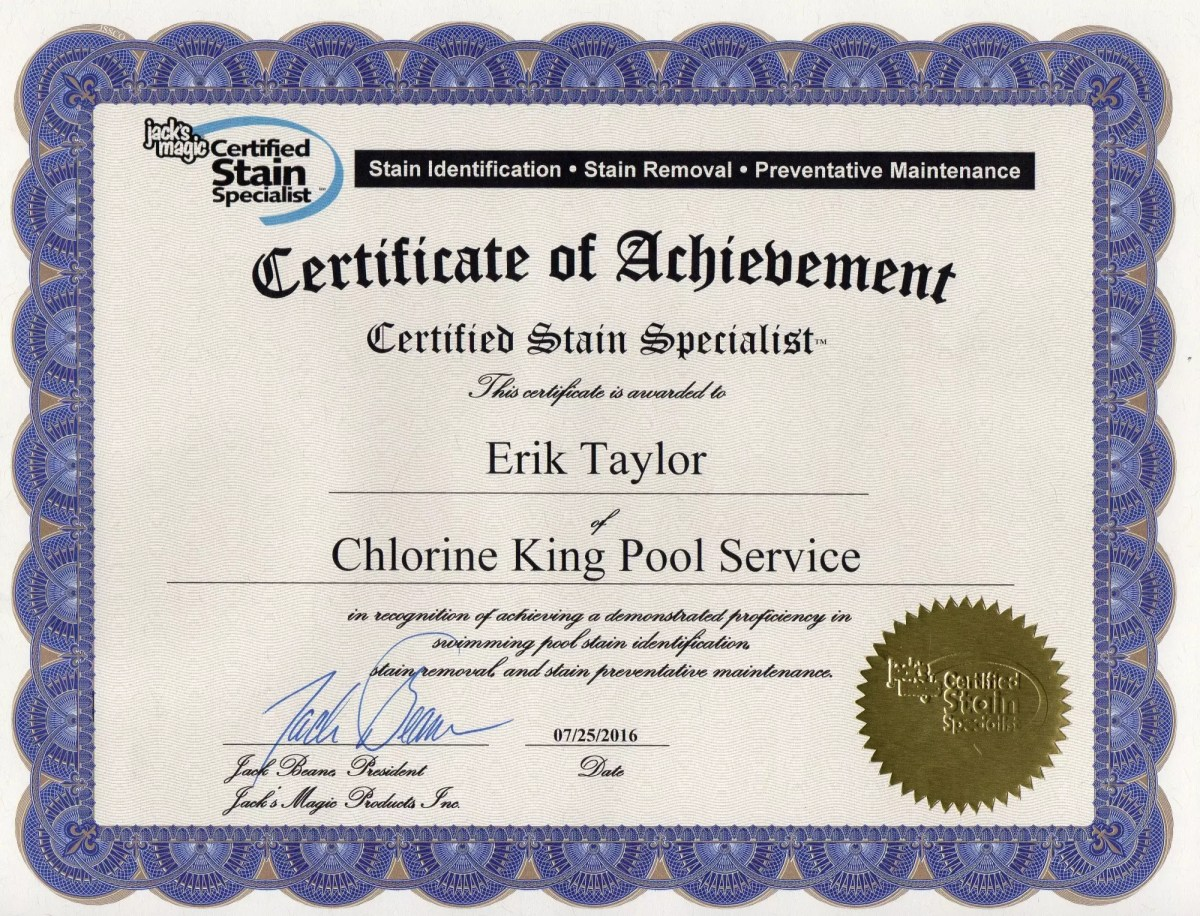 Pool Water Cleaning Service Jacks Magic Stain Specialist