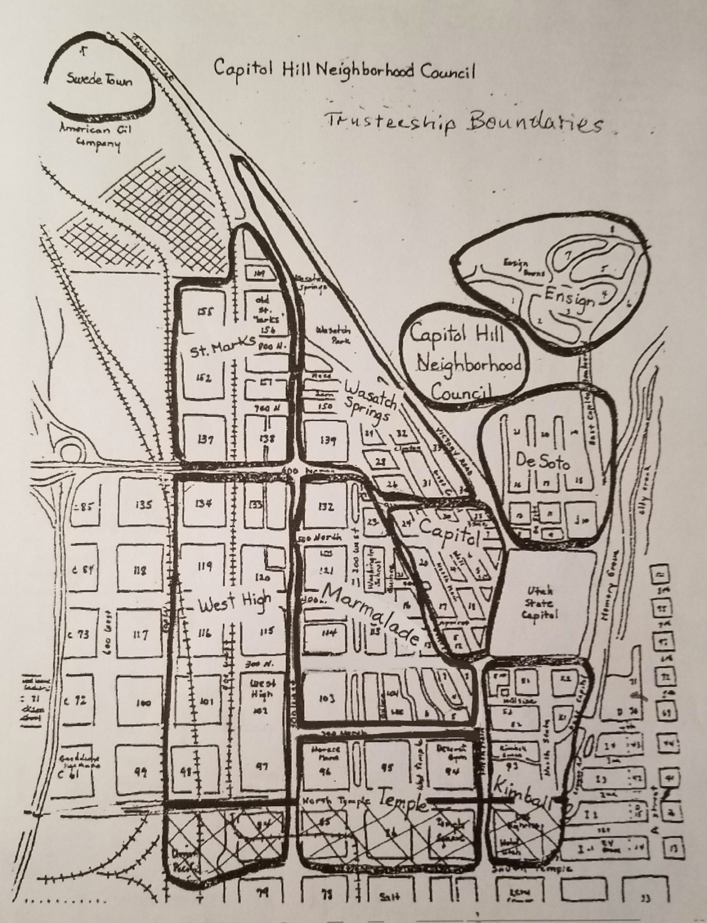 Map of Capitol Hill Neighborhoods
