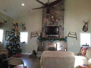 Living area of Menola Lodge