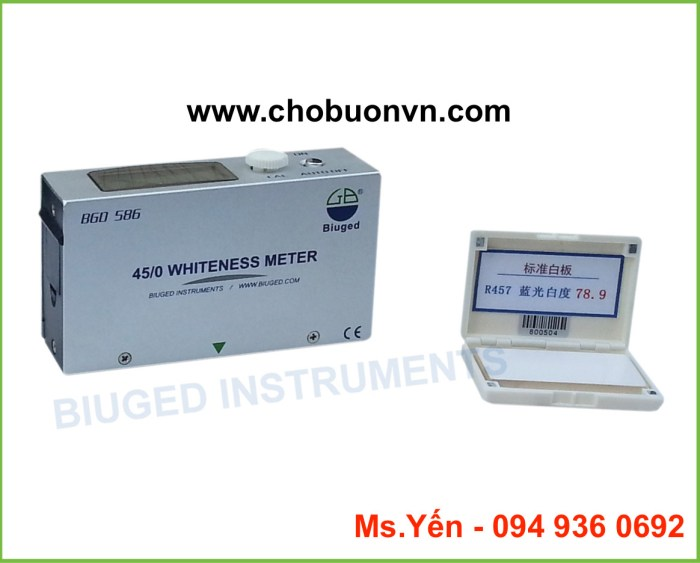 Máy đo độ trắng Trung Quốc giá rẻ BGD 586 hãng Biuged