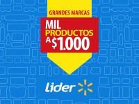 Mil productos a $1.000 se realiza dos veces al año en supermercados Líder.
