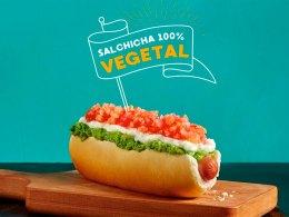 El nuevo completo vegetariano de Dominó, con salchicha 100% vegetal
