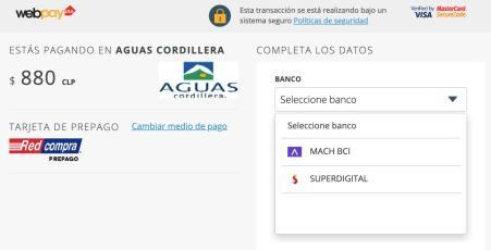 Se debe seleccionar Superdigital al momento de pagar en Webpay