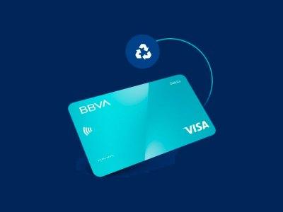 Tarjeta de plástico reciclado de BBVA