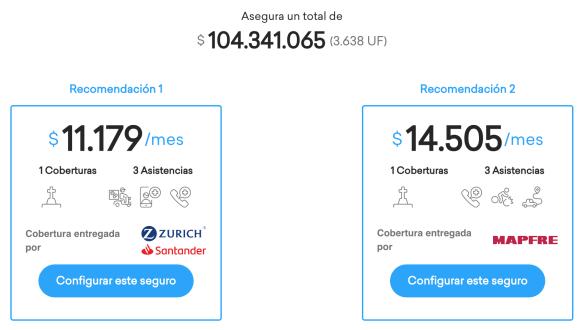 Simulación de seguro en Klare de Banco Santander